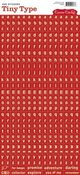 Red Tiny Type Stickers - Cosmo Cricket