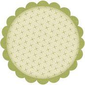 Jazmyne Peridot Die Cut Glitter Circle Paper Shapes - Bo Bunny