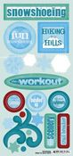 Snowshoeing Stickers