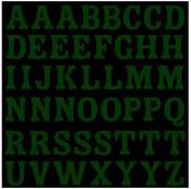 Green Alphabet Glitter Stickers