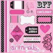 Girfriends Glitter Stickers