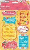 Boho Blooms Chipboard Stickers
