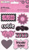 Girlfriends Glitter Puffy Stickers