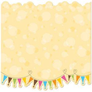 Bubbles & Banners Glitter Die Cut