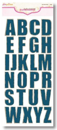 Denim Weathered Wood CB Alphabets by Pink Paislee