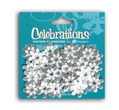 Silver & White Jeweled Wedding Florettes