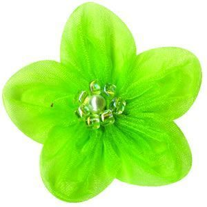 Lemon Lime Tulle Flowers by Bazzill