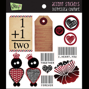 Distressed Couture Accent Stickers