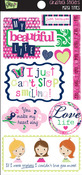 My Beautiful Life Titles Cardstsock Stickers