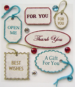 Vintage Gift Tags 3D  Stickers - Jolee's Boutique Parcel