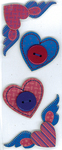 Hearts & Wings JBY Slims  3-D Stickers - Jolee's By You