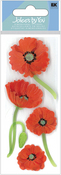 Mini Red Poppies 3-D Stickers - Jolee's By You
