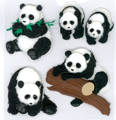 Pandas 3D Stickers - Jolee's Boutique