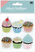Vellum Cupcakes 3D Stickers - Jolee's Boutique
