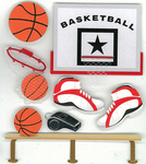 Basketball 3D Stickers - Jolee's Boutique