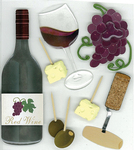 Wine Tasting 3D Stickers - Jolee's Boutique
