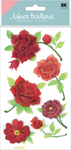 Colorful Roses 3D  Stickers - Jolee's Boutique