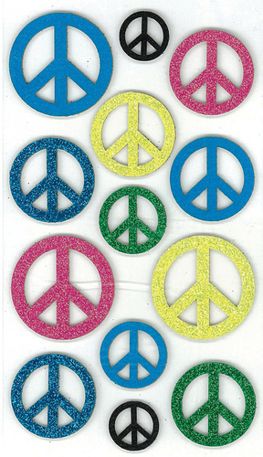 Peace Signs 3D  Stickers - Jolee's Boutique