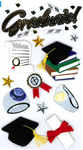Graduate 3D  Stickers - Jolee's Boutique