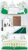 Washington Sights 3D  Stickers - Jolee's Boutique