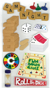 Game Night 3D  Stickers - Jolee's Boutique