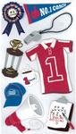 #1 Coach 3D  Stickers - Jolee's Boutique
