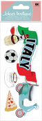 Italy 3D Title  Stickers - Jolee's Boutique