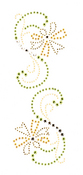 Golden Flower Trim - Jolee's Jeweled Accents