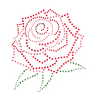 Rose Medallion Crystal and Metal Iron On Motifs - Jolee's Jewels