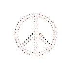 Peace Accent Crystal and Metal Iron On Motifs - Jolee's Jewels