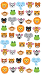 Zoo Faces Sticko Stickers