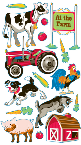 Farm Animals Sticko Stickers