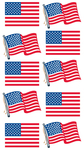Waving Flags Sticko Stickers