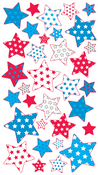 Red, White & Blue Stars Sticko Stickers