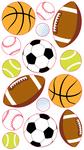 Popular Sports Balls Sticko Stickers