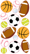 Popular Sports Balls Sticko Stickers