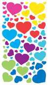 Fun Colored Hearts Sticko Stickers
