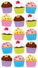 Bright Cupcakes Sticko Stickers