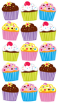 Bright Cupcakes Sticko Stickers