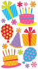 Fun Party & Balloons Sticko Stickers