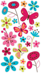 Butterfly Garden Sticko Stickers