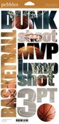 Basketball Snapshot Words Stickers