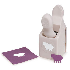 Martha stewart crafts punches medium punch sheep for Pre punched paper for crafts