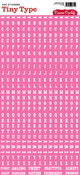 Pink Tiny Type Stickers by Cosmo Cricket