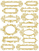 Metallic Gold Elegant Labels Rub-Ons by Hambly