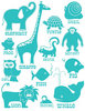 Teal Blue Classic Animals