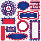 Stars & Stripes Journal Stickers