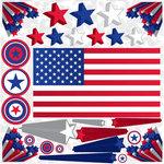 Stars & Stripes Icon Stickers
