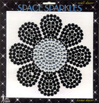 "Flower Rhinestone 8""x8"" Wall Sticker by Mark Richards"