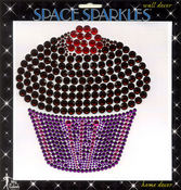 "Cupcake Rhinestone 7""x 7"" Wall Sticker"